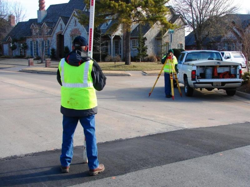 Crew Surveying a Street