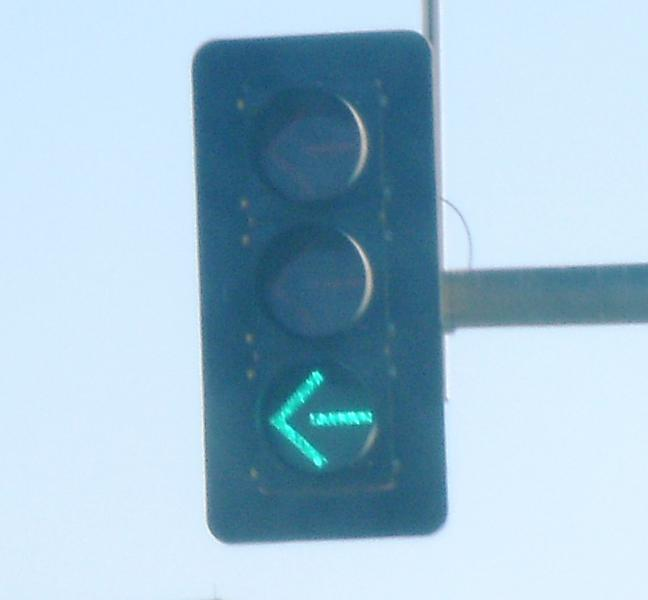 Protected Left Turn Traffic Signal