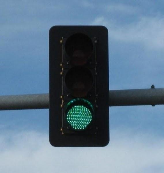 Traffic Signal displaying a green light