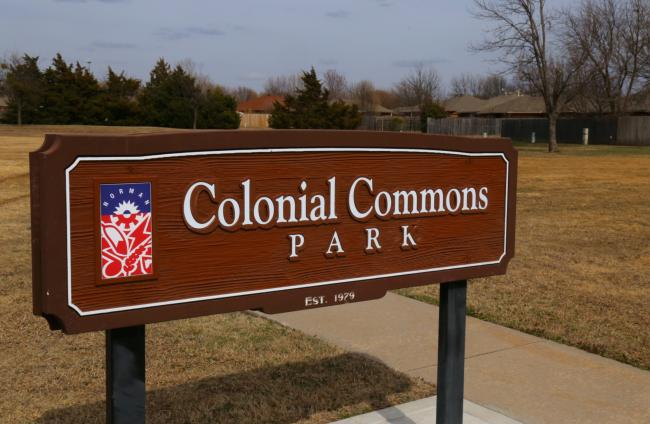 Colonial Commons Park Sign
