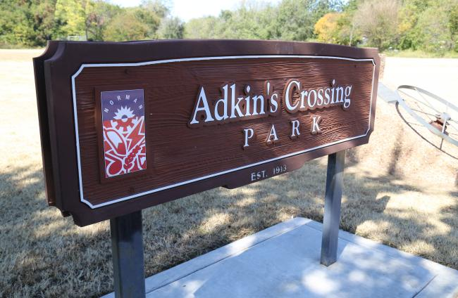 Adkins Crossing Park Sign
