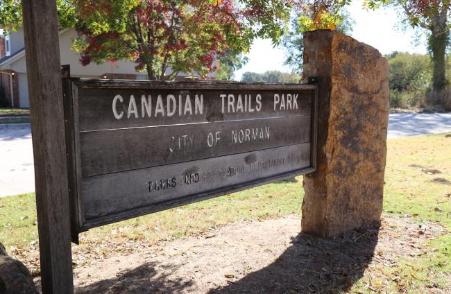 Canadian Trails Park Sign